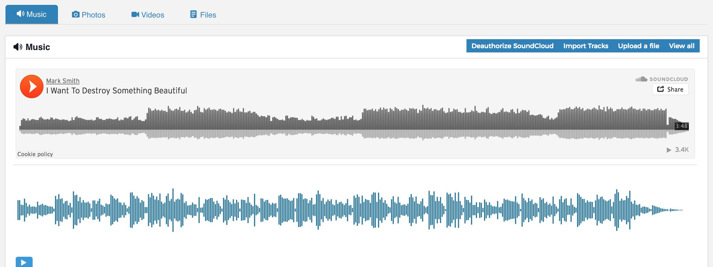 Soundcloud track