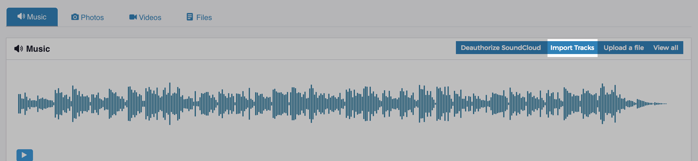 Import Soundcloud tracks
