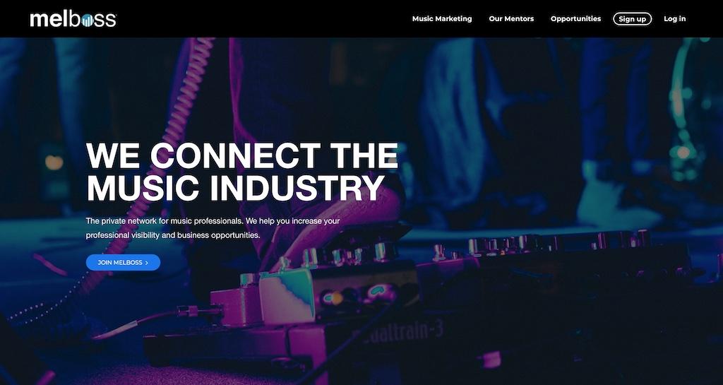 Melboss homepage